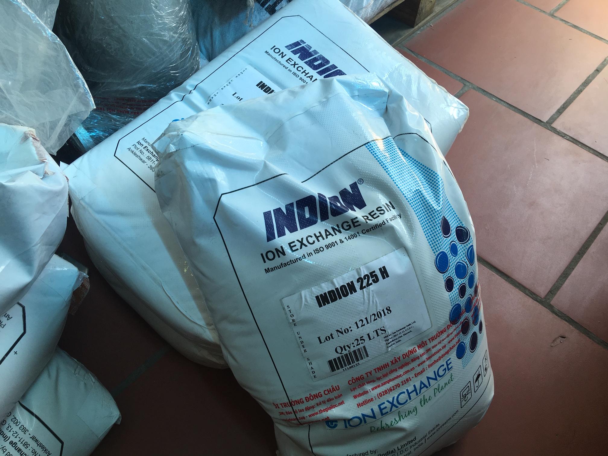 Kết quả hình ảnh cho Hạt nhựa trao đổi ion dương Indion Ấn Độ 225 H
